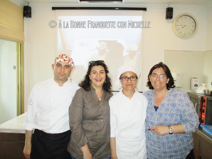 Chef Miguel Ángel Ferrero, María Carmen, la coordinadora Soledad Yofre y una servidora.