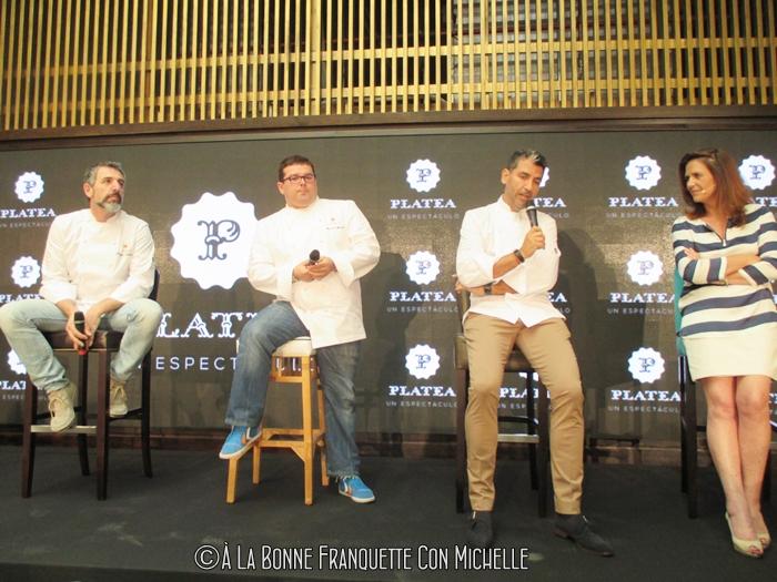 Pepe Solla, Marcos Morán, Paco Roncero, K. Beorlegui, Directora de Platea